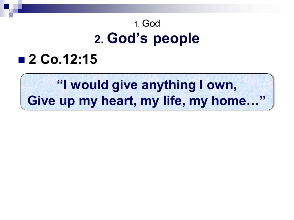 1. God 2.