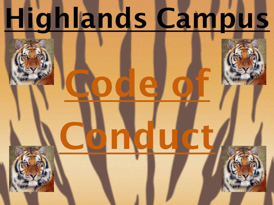 Highlands Campus Code of Conduct