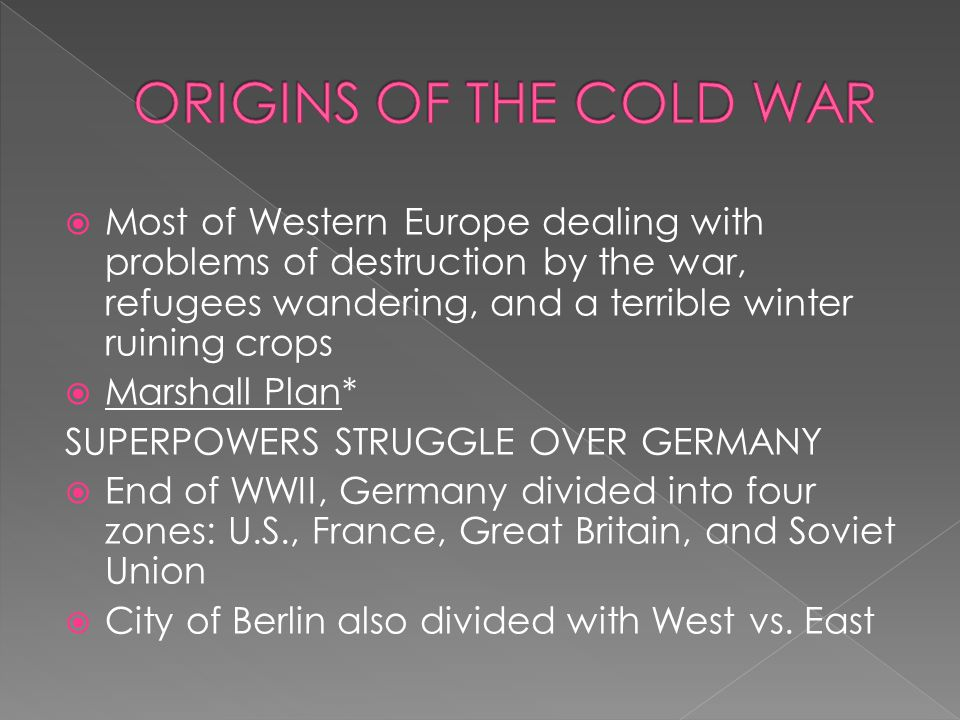  West Germany now allowed to rearm and join NATO, out of fear, the Soviet Union forms the Warsaw Pact* pg.