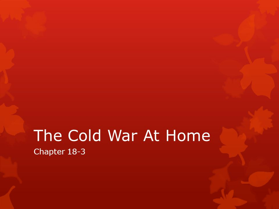 The Cold War At Home Chapter 18-3