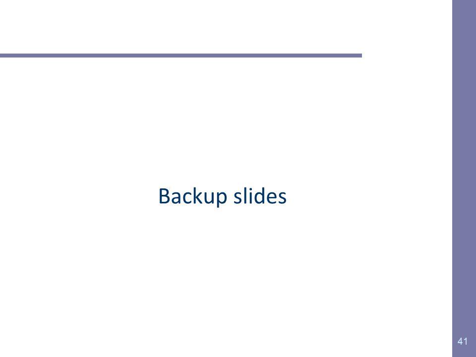 Backup slides 41