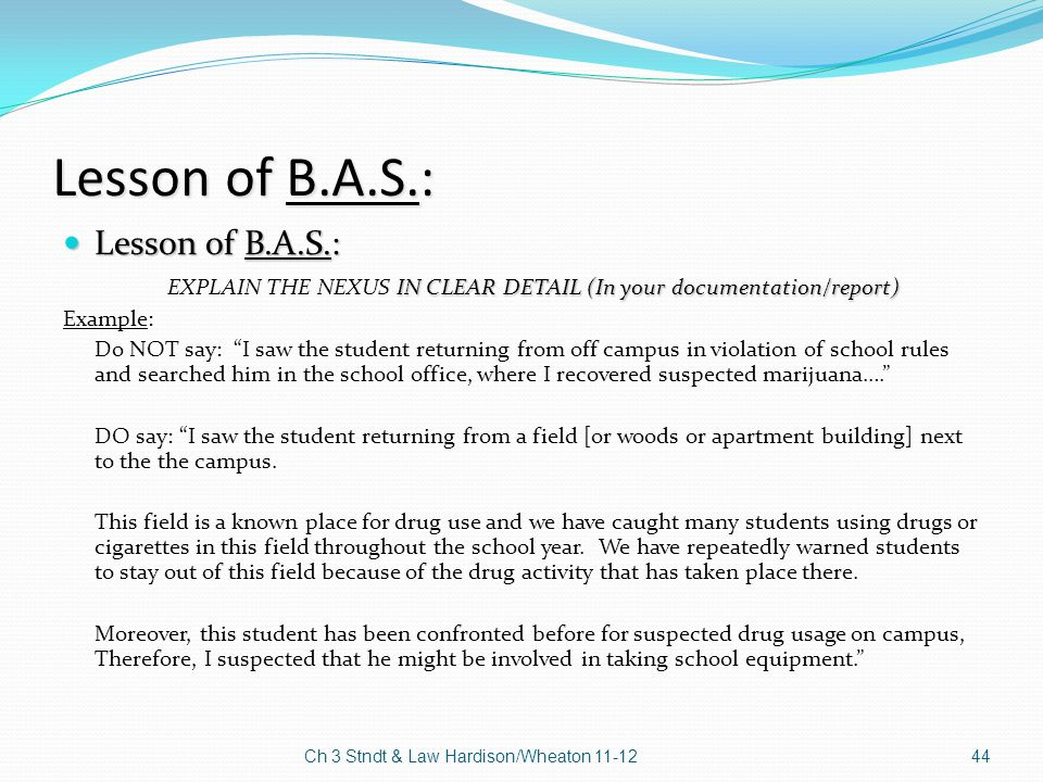 Lesson of B.A.S.: Lesson of B.A.S.: Lesson of B.A.S.: IN CLEAR DETAIL (In your documentation/report) EXPLAIN THE NEXUS IN CLEAR DETAIL (In your docume