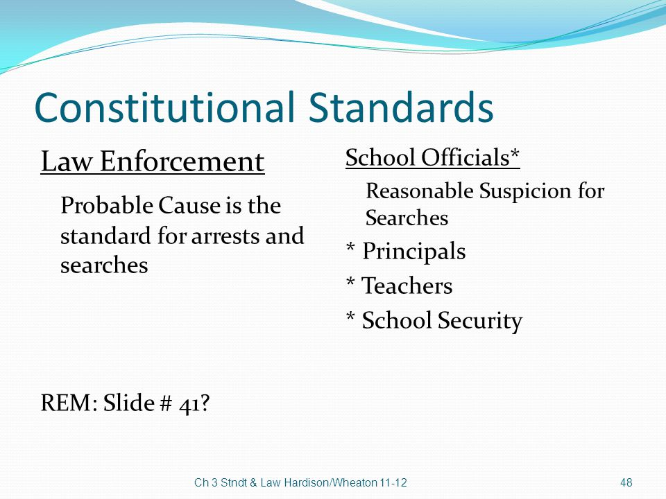 Reasonable Suspicion School Searches School Officials Reasonable