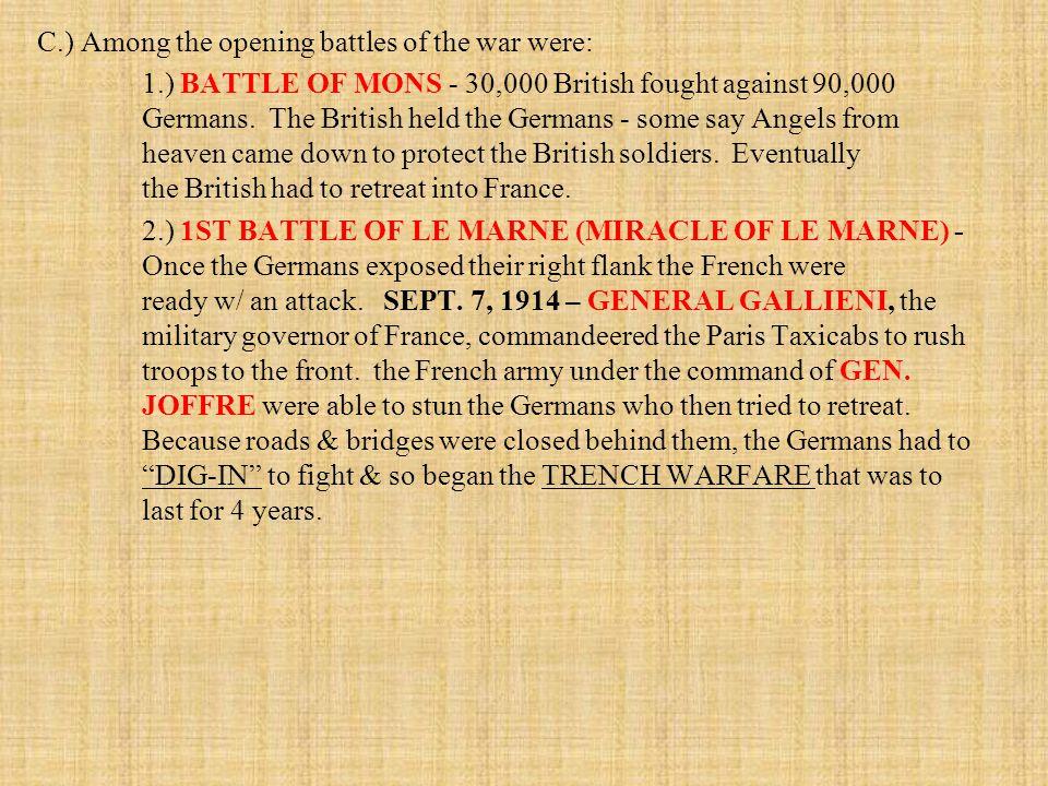 2.) German Submarine Warfare was an even bigger problem to the U.S.