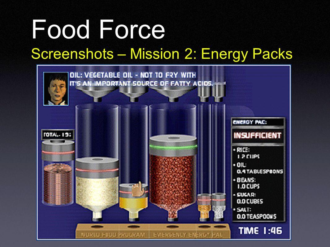 Food Force Screenshots – Mission 2: Energy Packs