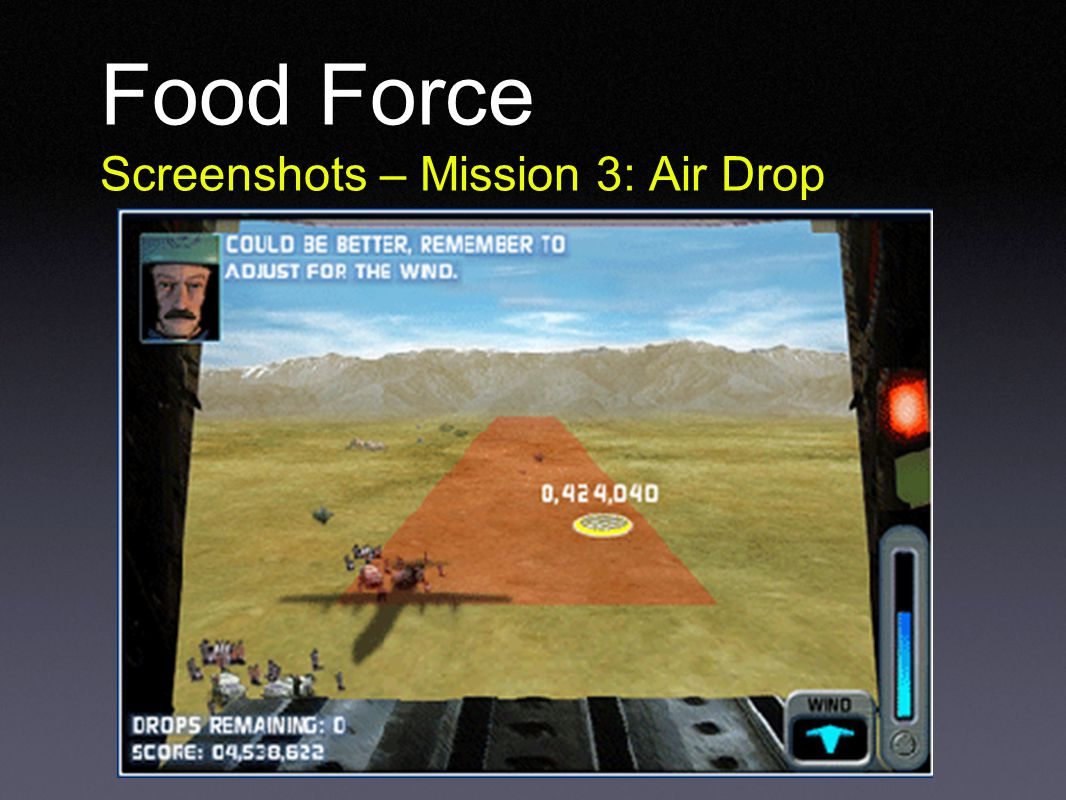 Food Force Screenshots – Mission 3: Air Drop