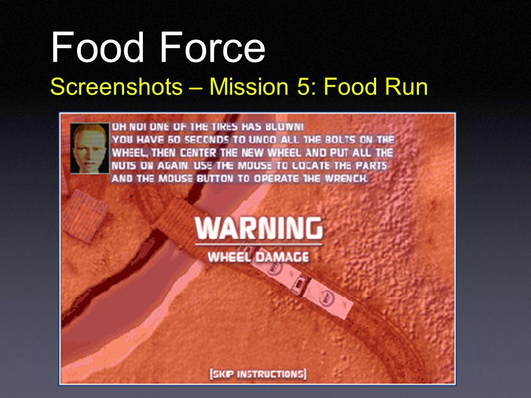 Food Force Screenshots – Mission 5: Food Run