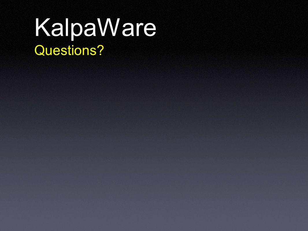 KalpaWare Questions