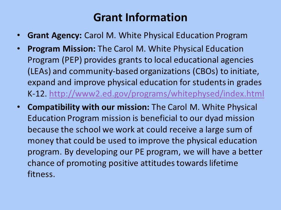 Grant Information Grant Agency: Carol M.