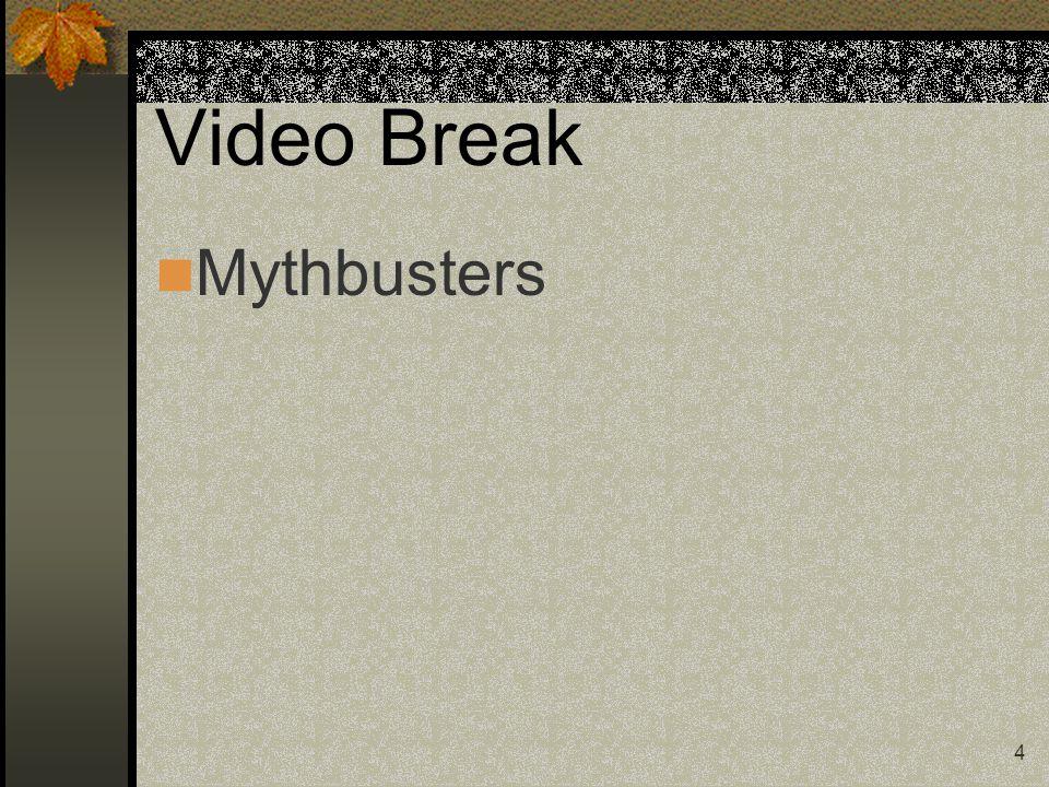Video Break Mythbusters 4