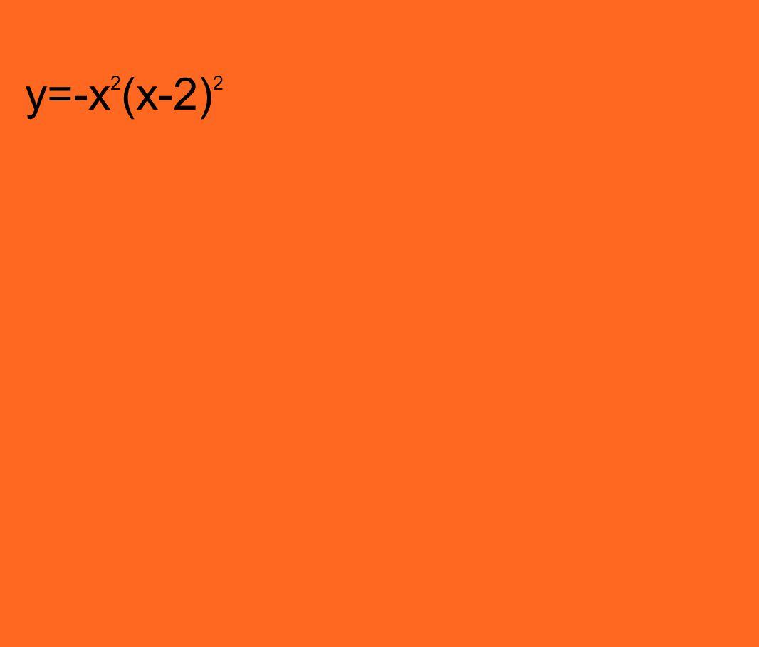 y=-x 2 (x-2) 2