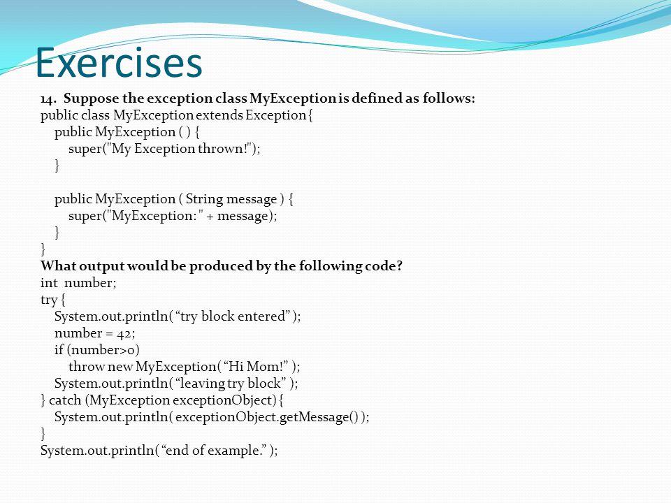 Exercises 14.