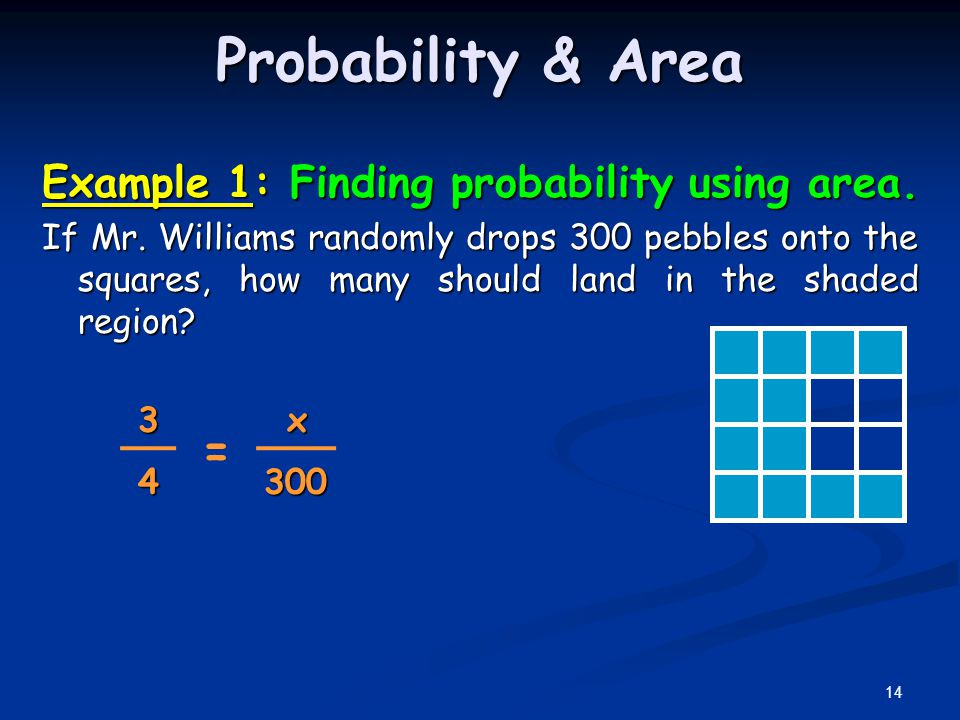 Probability & Area Example 1: Finding probability using area.