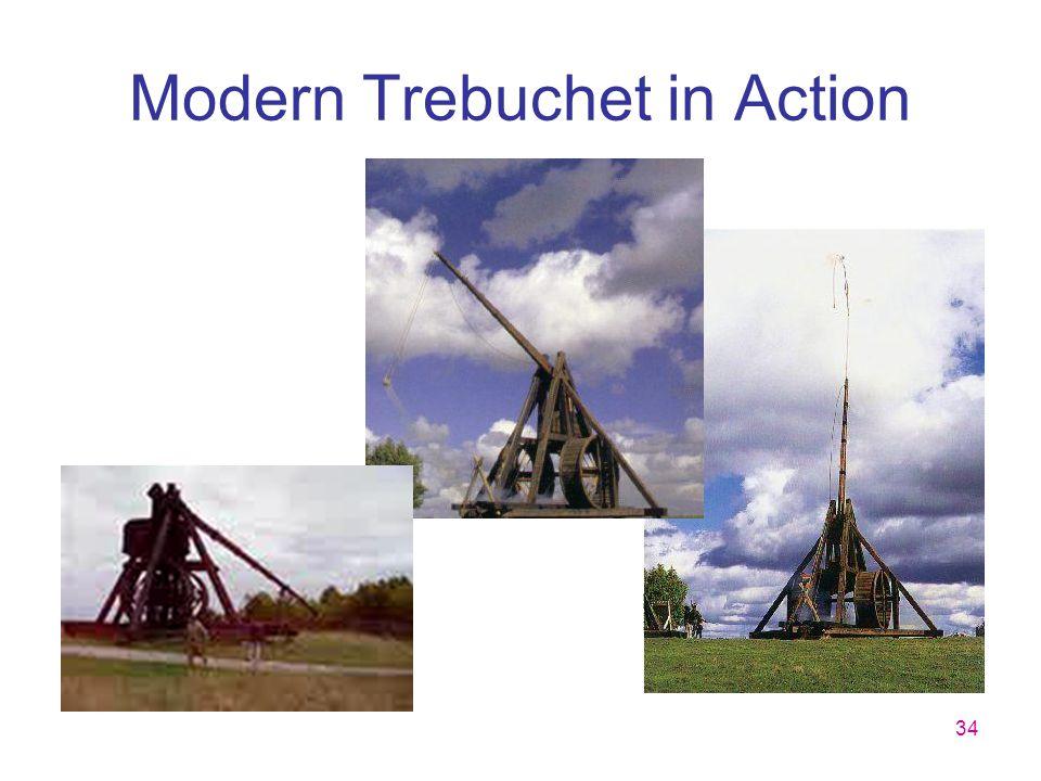 34 Modern Trebuchet in Action