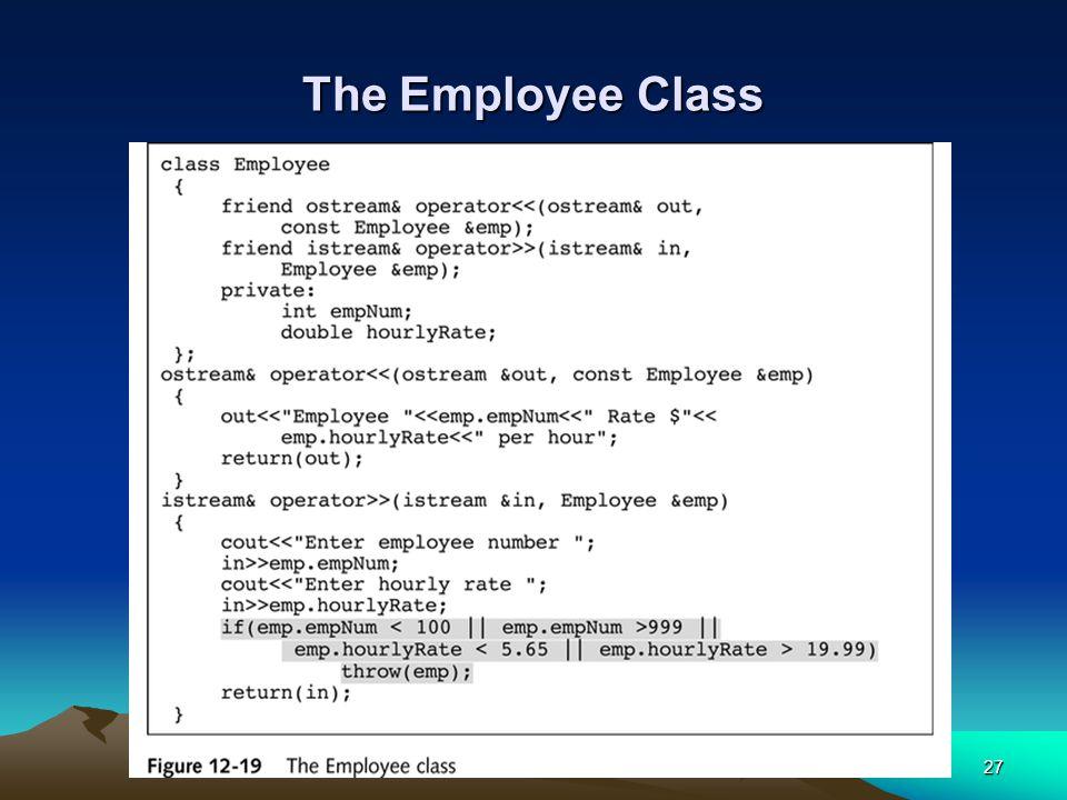 27 The Employee Class