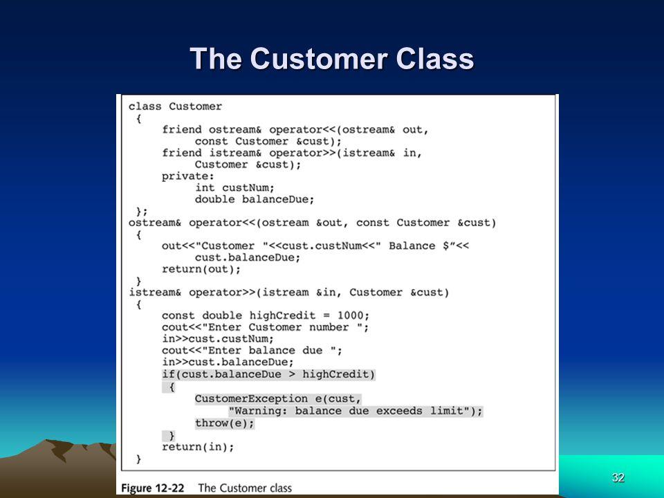 32 The Customer Class