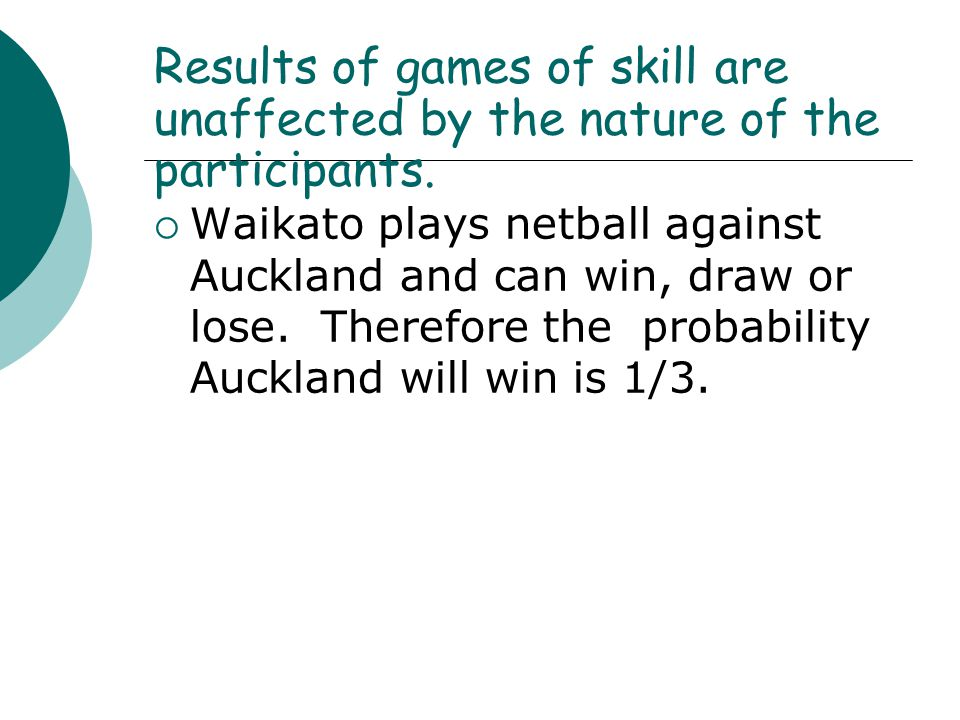 Results of games of skill are unaffected by the nature of the participants.