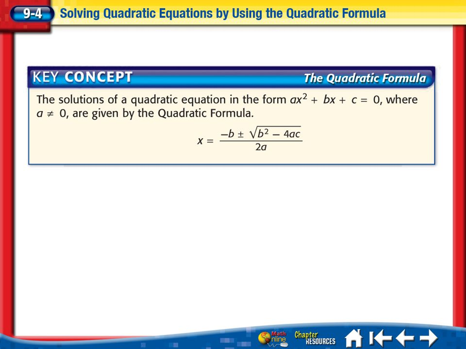 Lesson 4 Ex1 Solve Quadratic Equations A.Solve x 2 – 2x – 35 = 0.