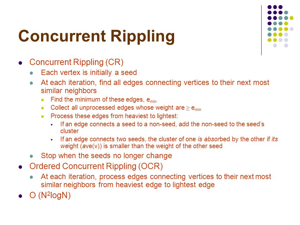Ordered Concurrent Rippling S S S S S 1 st iteration 2 nd iteration