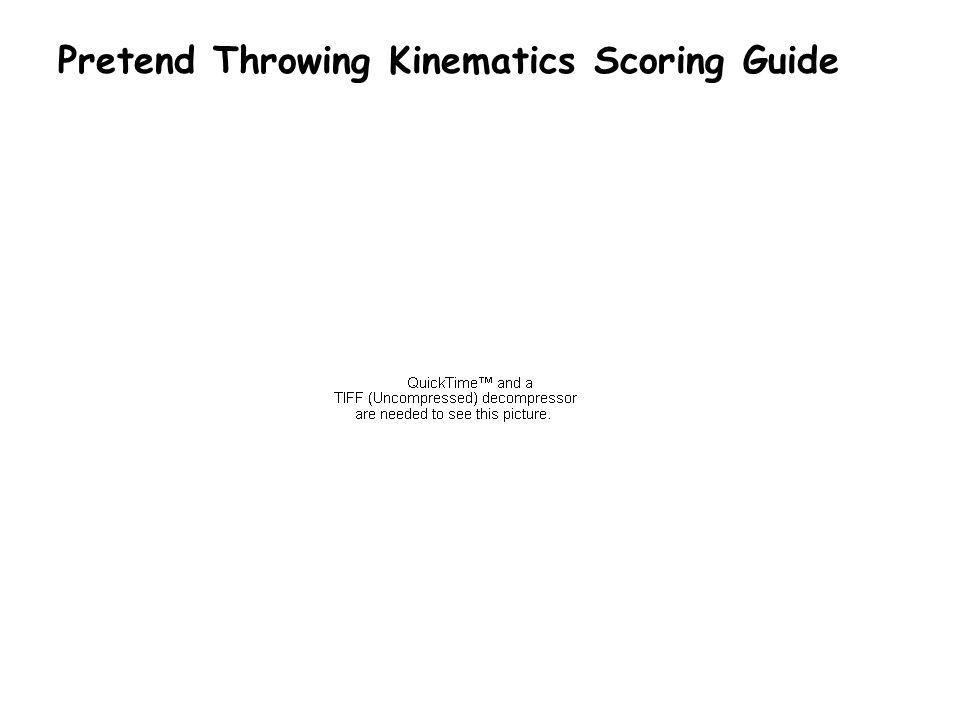 Pretend Throwing Kinematics Scoring Guide
