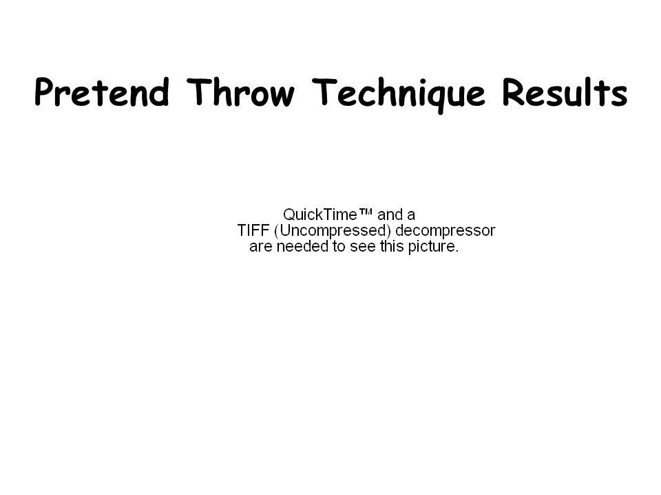 Pretend Throw Technique Results