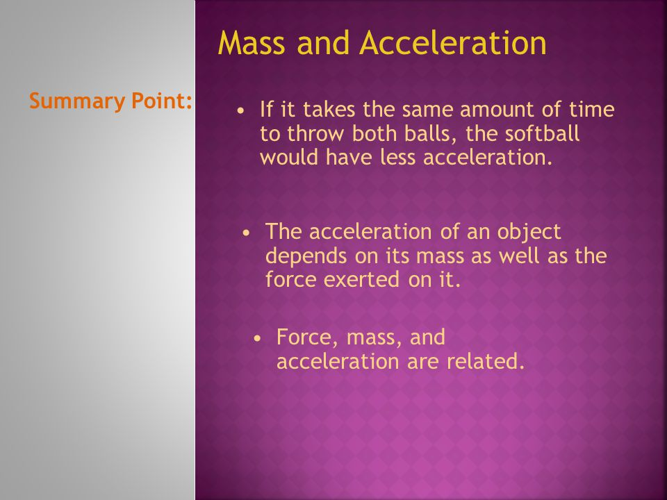 Newton's second law of motion states that the acceleration of an object is in the same direction as the net force on the object, and that the acceleration can be calculated from the following equation: Applying Newton's Second Law