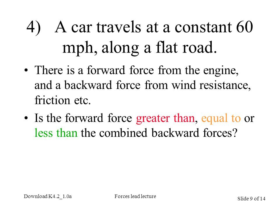 Slide 10 of 14 Download K4.2_1.0aForces lead lecture A ball has been thrown up mark any forces (neglect air resistance).