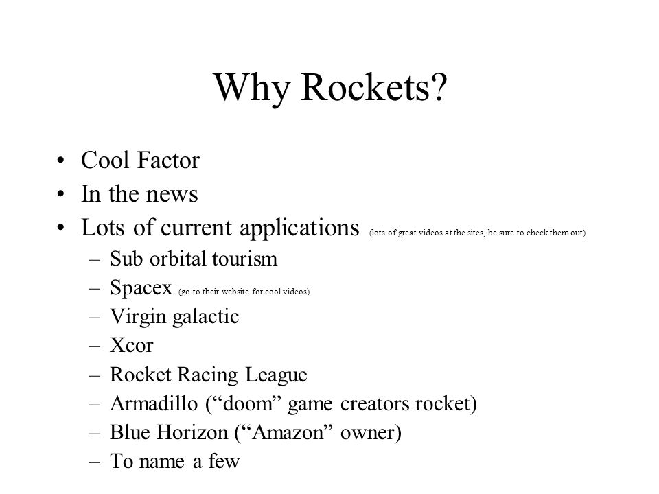 Why Rockets.