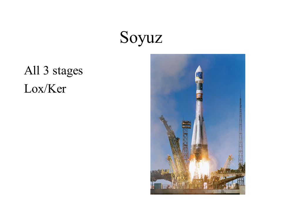 Soyuz All 3 stages Lox/Ker