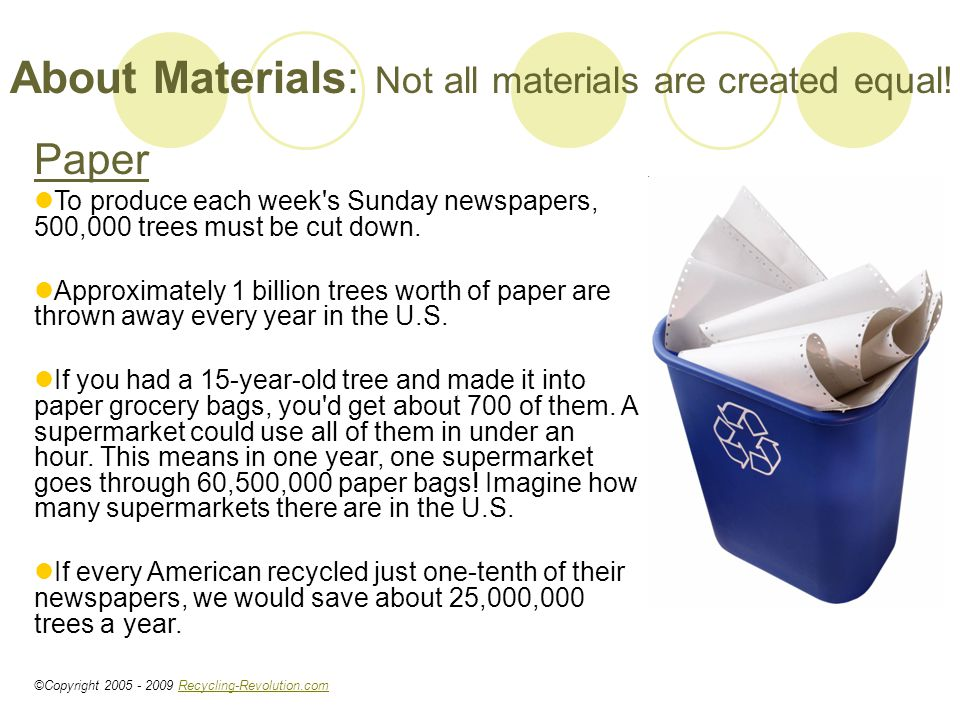 About Materials: Not all materials are created equal.