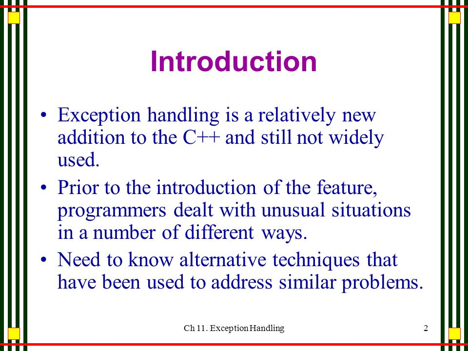 Ch 11. Exception Handling Timothy Budd Oregon State University