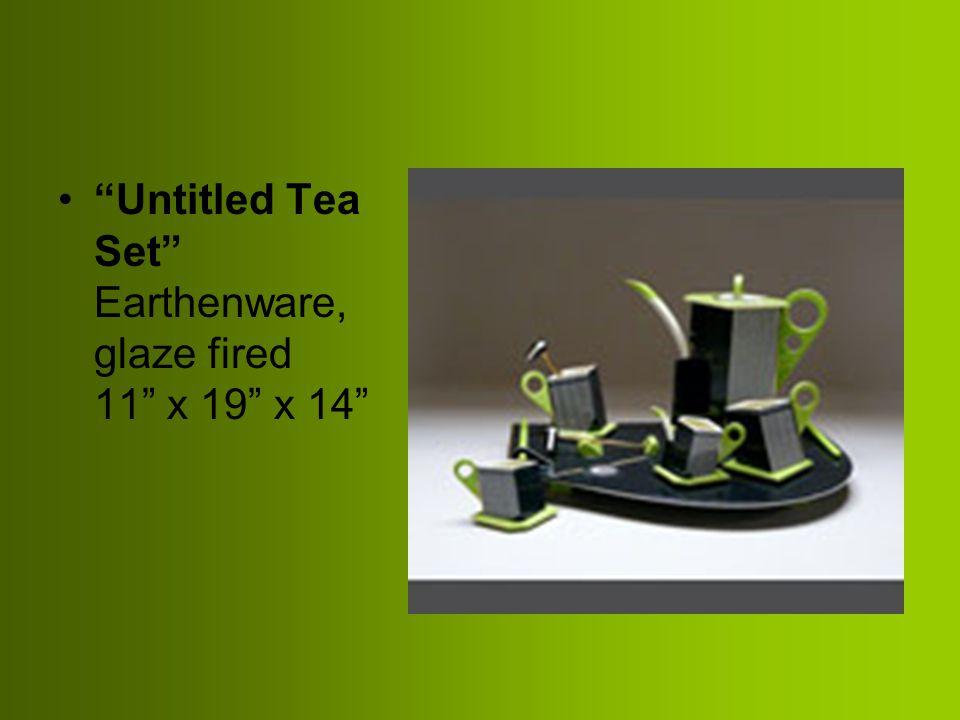 """Untitled Tea Set"" Earthenware, glaze fired 11"" x 19"" x 14"""