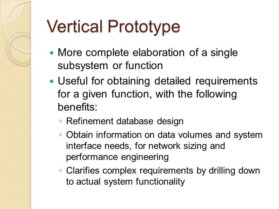 Types of Prototyping Throwaway (Rapid) prototyping Evolutionary prototyping Incremental prototyping Extreme prototyping