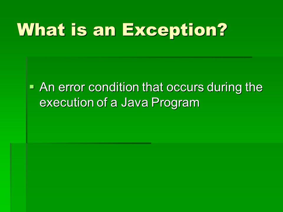 Common Exceptions in Java  ArithmeticException  NullPointerException  ClassCastException  ArrayIndexOutOfBoundsException  IndexOutOfBoundsException  NoSuchElementException  IllegalStateException