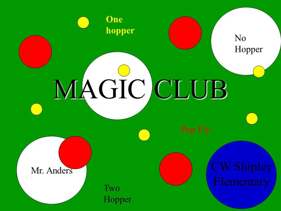 MAGIC CLUB CW Shipley Elementary Mr. Anders One hopper No Hopper Pop Fly Two Hopper