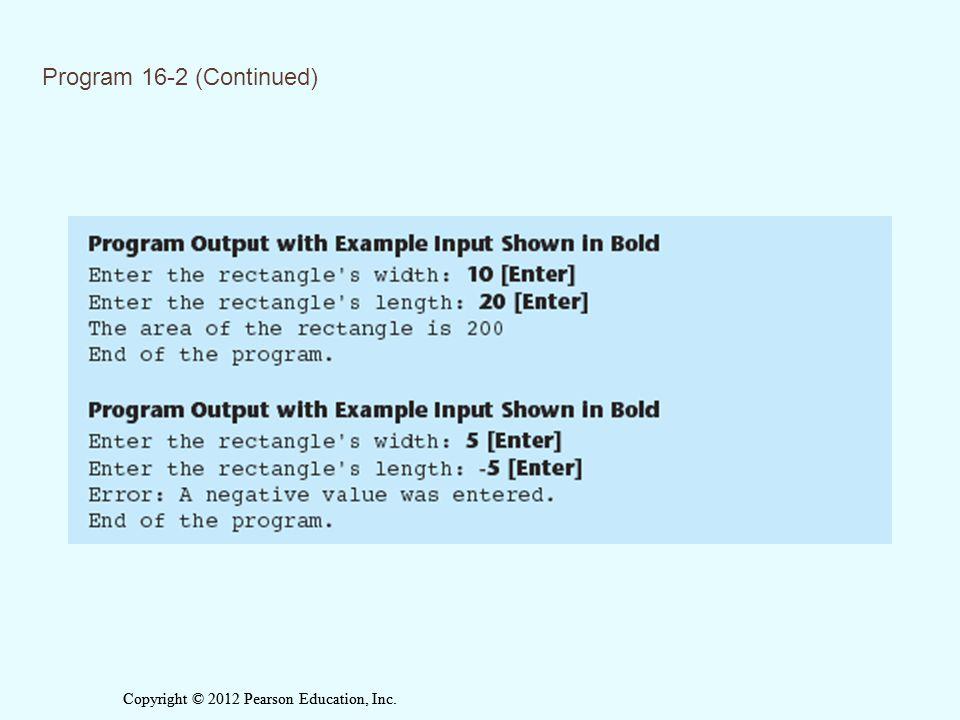 Program 16-2 (Continued)