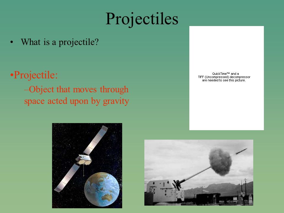 Projectile Motion Interactive Figure 10-4 & 10-5 (cd- rom) There are two components of motion happening in this picture.