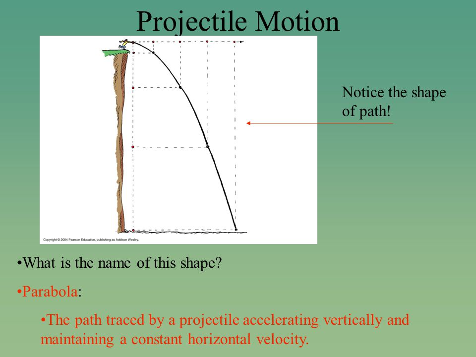 Projectile Motion What is the name of this shape.
