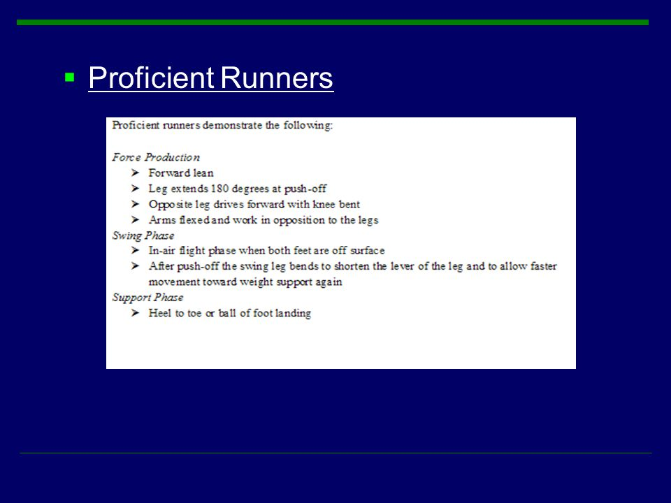  Proficient Runners