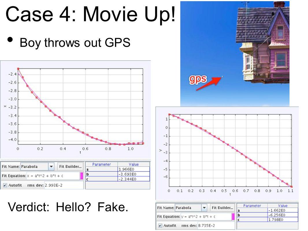Case 4: Movie Up! Boy throws out GPS Verdict: Hello? Fake.