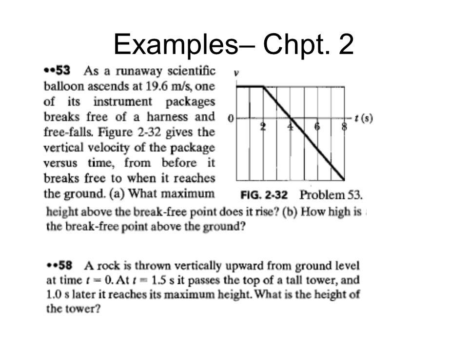 Examples– Chpt. 2