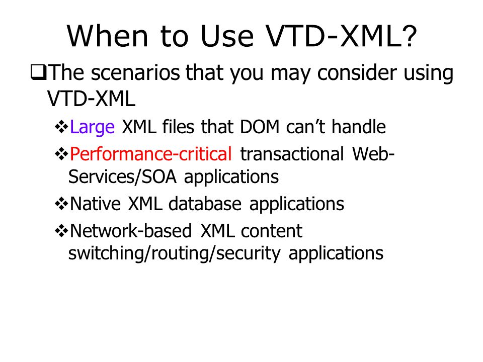 Methods of VTDNav  Query the attributes of parsed XML  int getEncoding(): Get the encoding of the XML document.