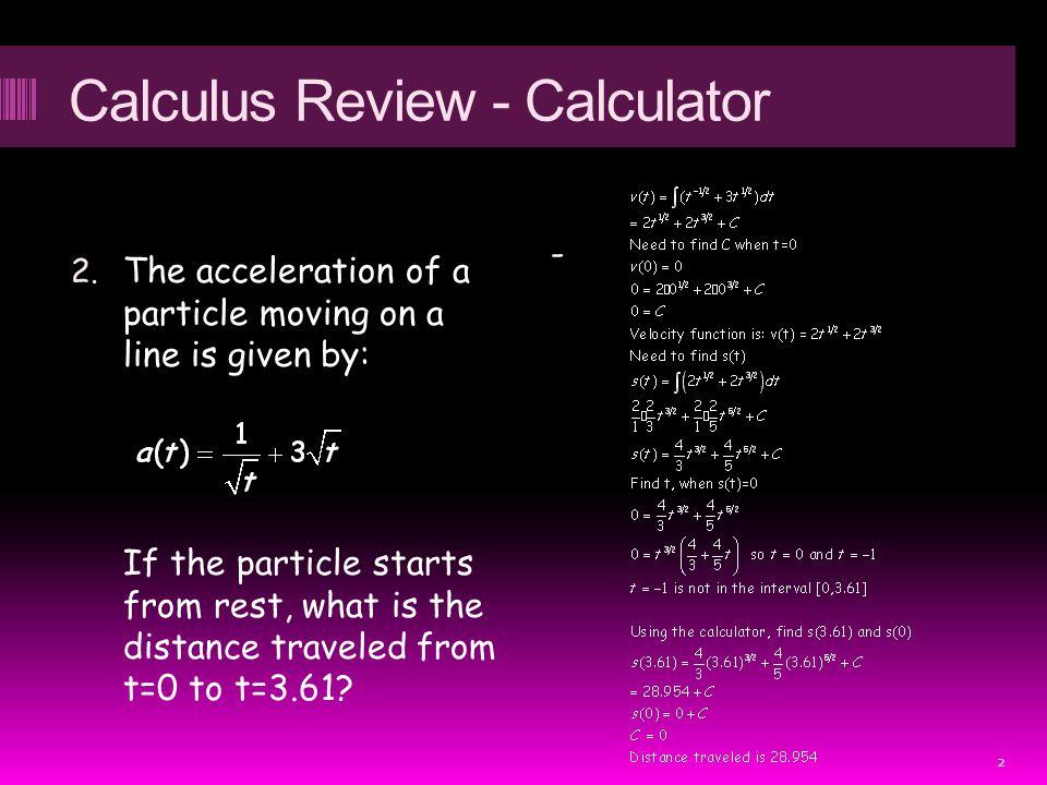Calculus Review - Calculator 2.