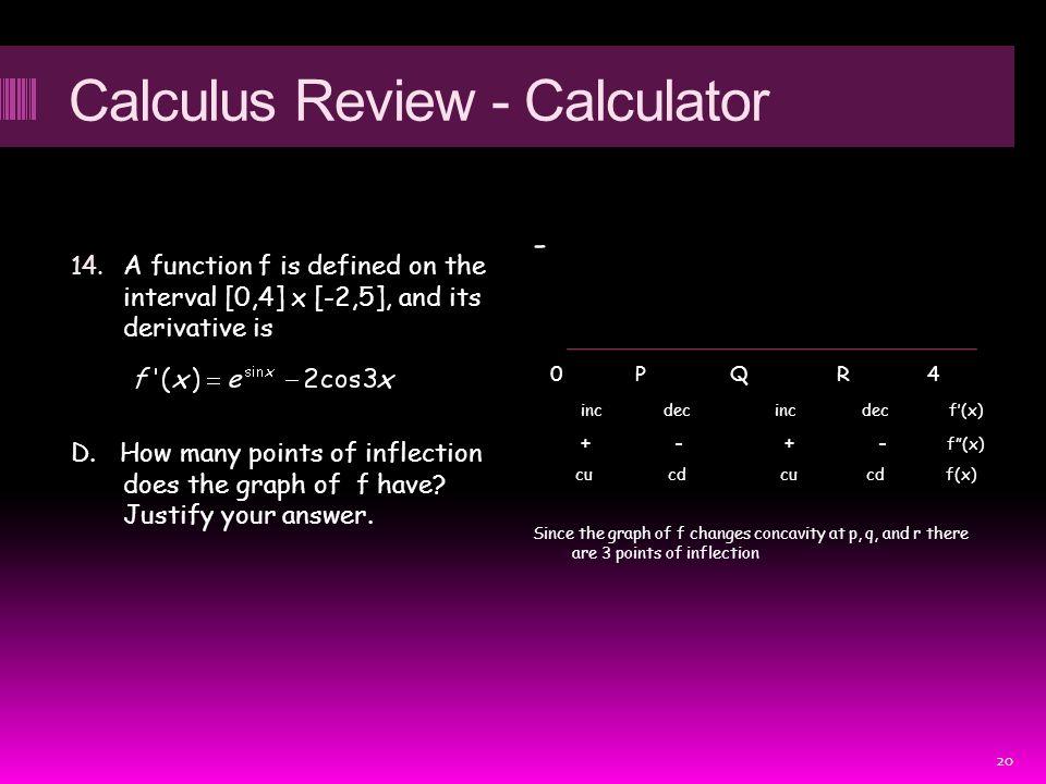 Calculus Review - Calculator 14.