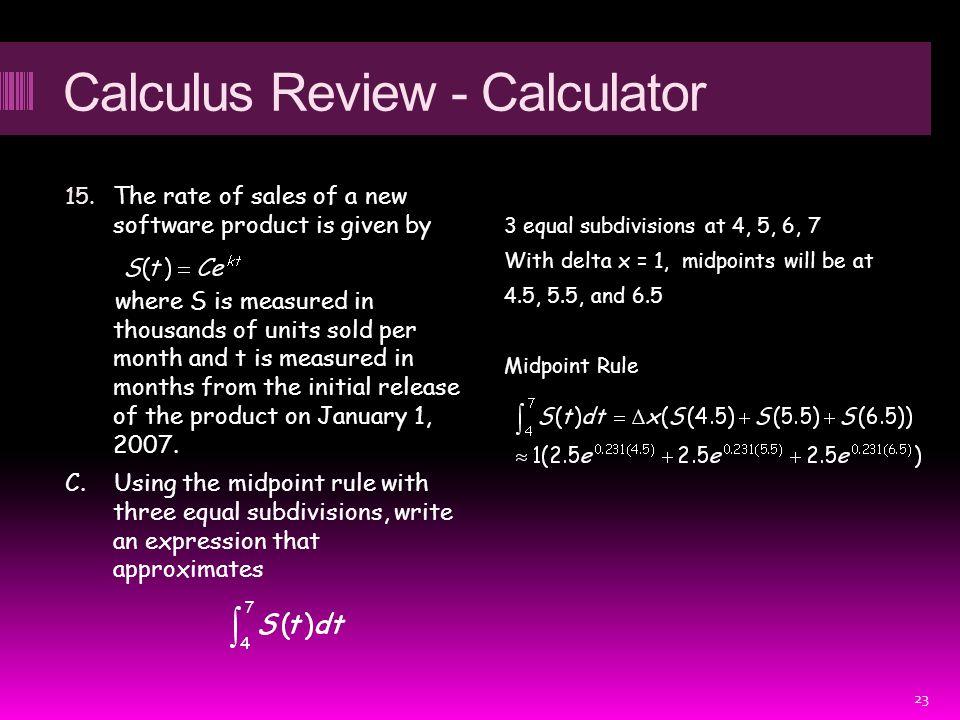 Calculus Review - Calculator 15.