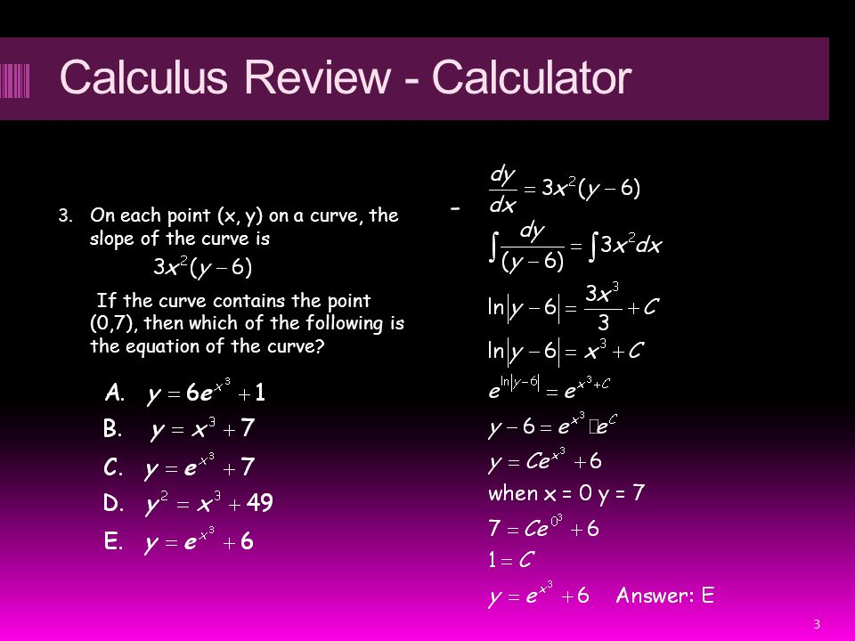 Calculus Review - Calculator 3.