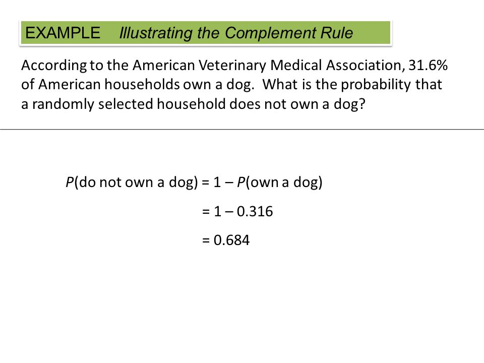 According to the American Veterinary Medical Association, 31.6% of American households own a dog.