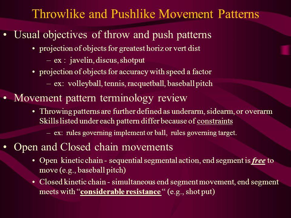 Common movement patterns