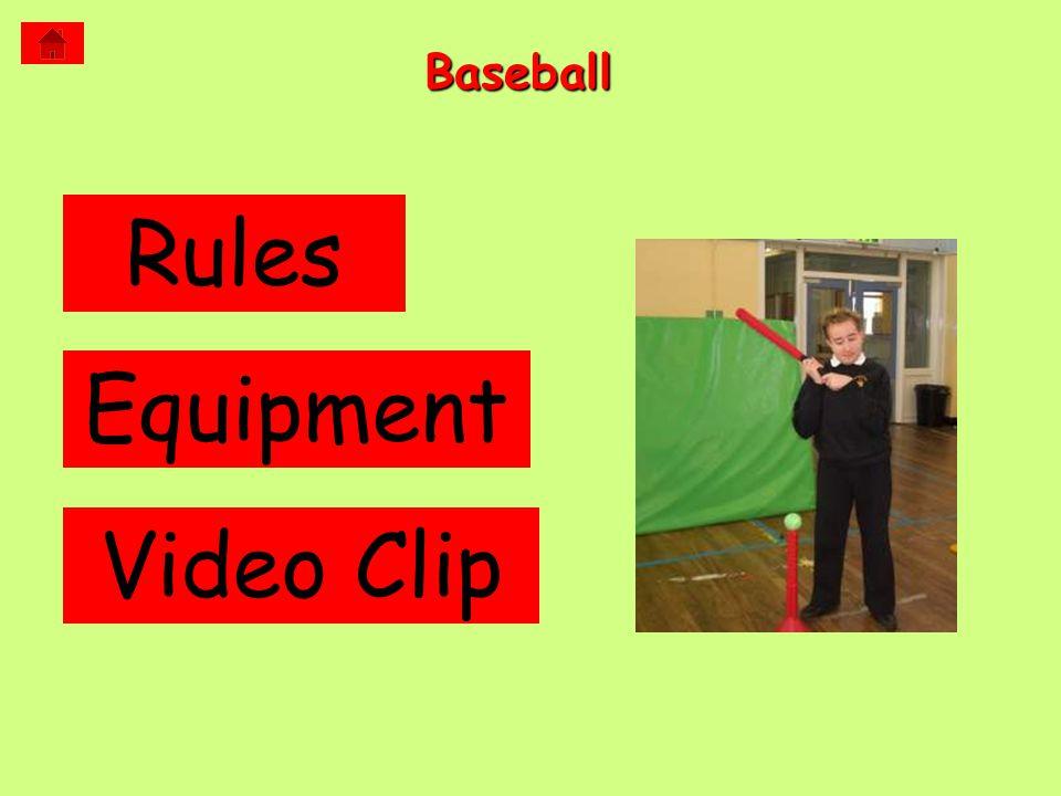 Baseball Rules Equipment Video Clip