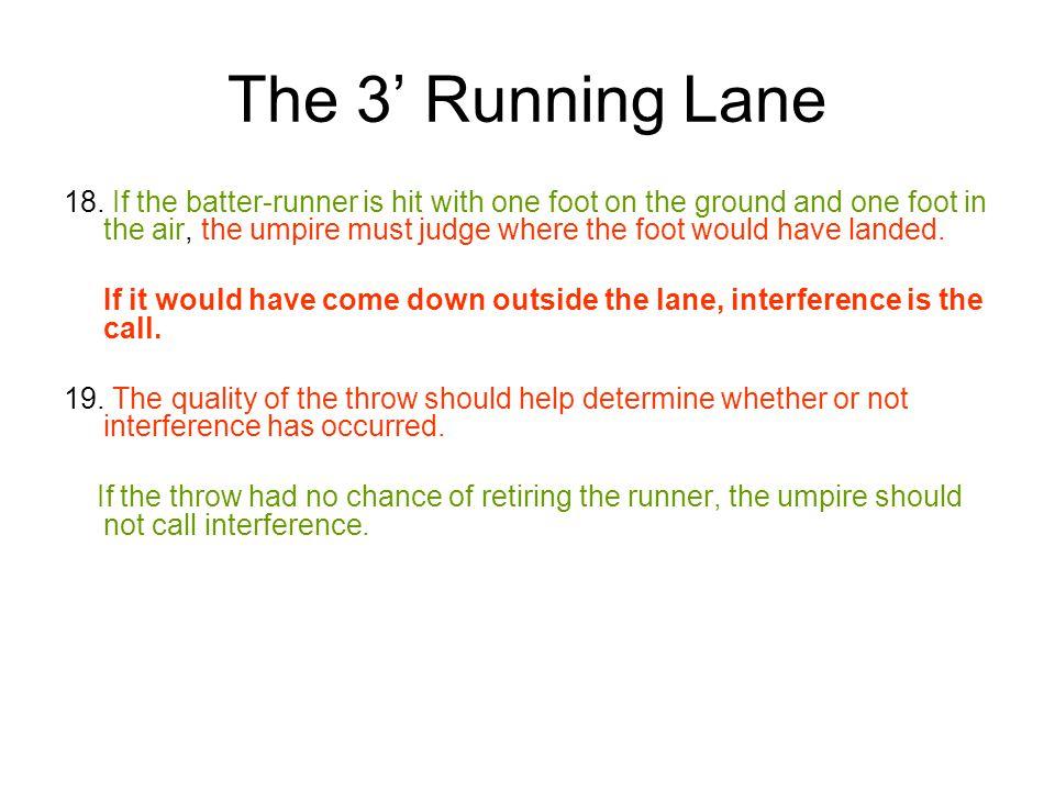 The 3' Running Lane 18.